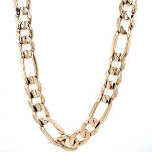 10K Yellow Gold 22″ Figaro Link Chain