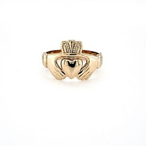 9K Yellow Gold Claddagh Ring