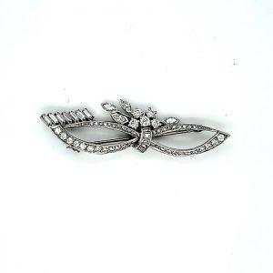 Birks Platinum 63 Multi-Cut Diamond Brooch
