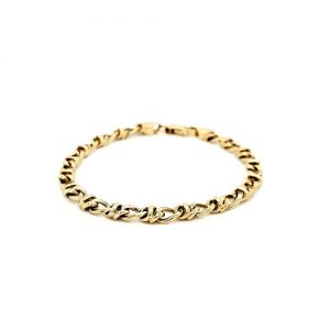 Tiffany & Co. 18K Yellow Gold 7.25″ Stylized Link Bracelet