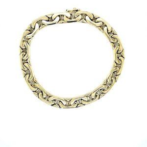 14K Yellow Gold 9″ Flat Marine Link Bracelet