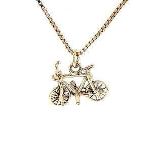 10K Yellow Gold 18mm Bicycle Charm/Pendant