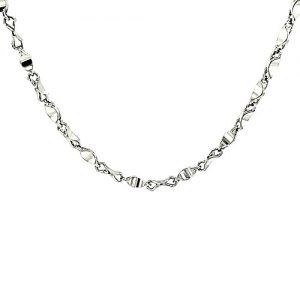 .900 Platinum 17.5″ Stylized Twist Link Chain