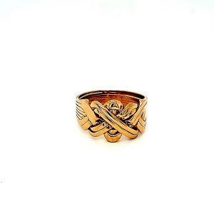 21K Yellow Gold 8 Piece Puzzle Ring