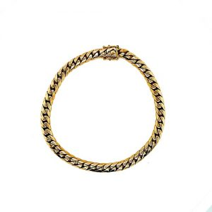 Solid 14K Yellow Gold 7.75″ Curb Link Bracelet