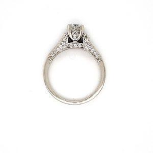 14K White Gold .47CT Diamond Centre, Princess Cut & Round Cut Diamond Engagement Ring