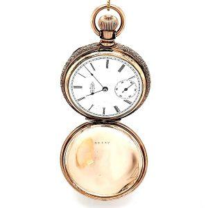 10K Rose Gold Hunter Style Pocket Watch (1893)