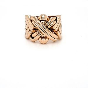 14K Yellow Gold 8 Piece Puzzle Ring