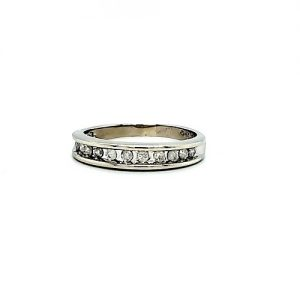 10K White Gold 11 Diamond Band