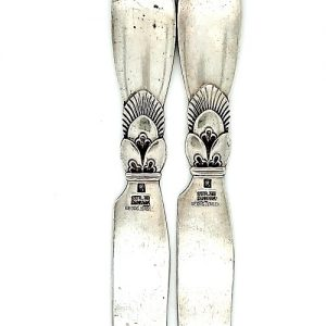 Set of Two Sterling Silver Georg Jensen Cactus Fruit Knives (2)