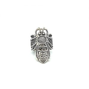 DGS Sterling Silver Filigree Dragonfly Ring