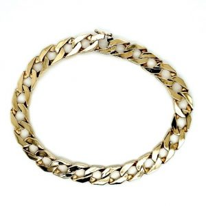 10K Yellow Gold 8.5″ Square Open Curb Link Bracelet