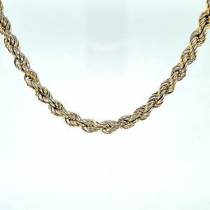 10K Yellow Gold 18.5″ Hollow Rope Link Chain
