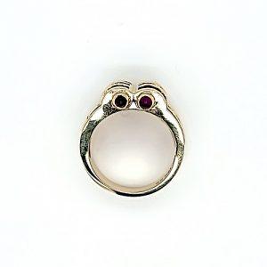 14K Yellow Gold Multi-Cut Rubies & 24 Diamond Stylized Ring