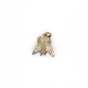 10K Yellow Gold 16mm 3D Fly Charm/Pendant