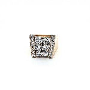 10K – 14K Yellow & White Gold 20 Diamond Fancy Ring