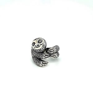 Sterling Silver Smiling Sloth Wrap Ring