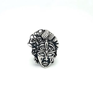 Sterling Silver Lady Masquerade Ring
