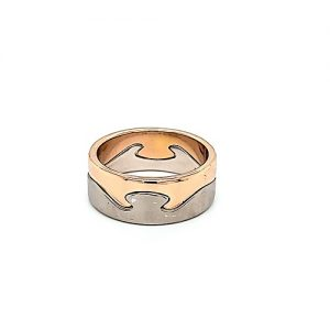 Designer Georg Jensen Fusion 18K Two Tone Two Piece Bands