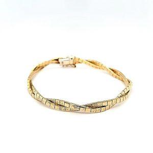 14K Yellow Gold 7.5″ Textured Braided Bracelet